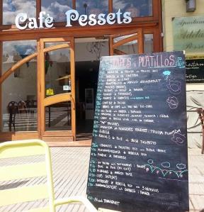 Carta Cafè Pessets (Sort, Lleida)