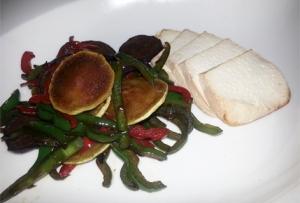 Salteado de verduras con tofu