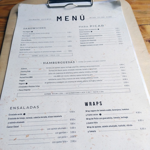 Carta Café MENSSANA