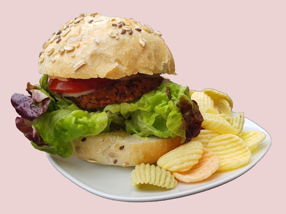 Foto 1_ Bocadillo de hamburguesa_PetitVegan